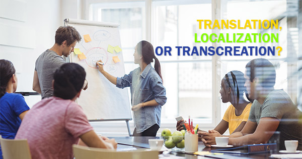 Translation, Localization or Transcreation?